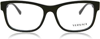 Versace VE3266 Eyeglass Frames GB1-55 - Black VE3266-GB1-55