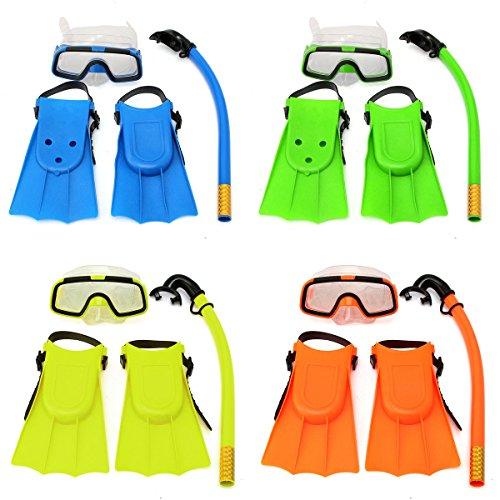 Access-Spt03 Junior niños Gafas de máscara de Buceo Aletas de Buceo natación Buceo Snorkel Set Kids Set (Color al Azar)
