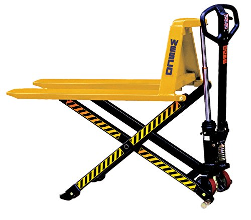 Wesco Industrial Products 272975 Manual High Lift Telescoping Pallet Truck with Loop Handle,...