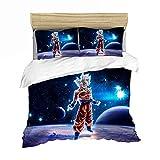 GDGM Parure De Lit Dragon Ball Z,Parure De Lit Enfant,3D Housse De Couette Dragonball 220x240 Cm+Taie d'oreiller (H,220x240cm)