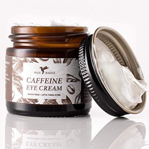 Caffeine Eye Cream by Baja Basics Reduces Puffiness Dark Circles Perks Up Tired Eyes Anti Aging product image