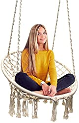 Sorbus Hammock Chair Macrame Swing (AFFILIATE)