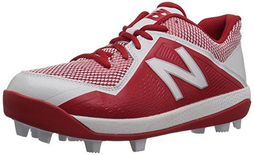 New Balance 4040 V4 Molded Baseball Shoe, Red/White, 11 Wide US Unisex...