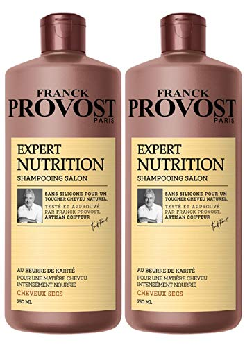 FRANCK PROVOST EXPERT NUTRITION Shampooing Professionnel Nutrition Intense 750.0 ml - Lot de 2