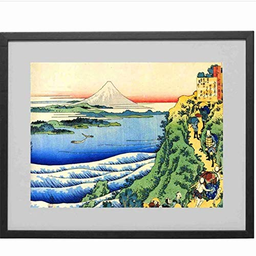 Amokr Canvas Art Walls Painting 19.7'x27.6' no frame Mountain Japanese Poster Prints Pictures For Living Room Home Oil Paintings Decor