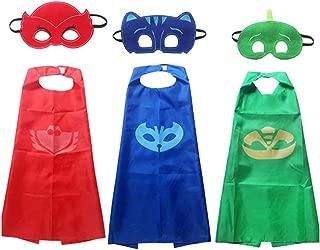 Brigamo 3 x Pyjama Kids Superhelden Kinderkostüm Kinder Kostüme, ideal für Kindergeburtstag, Fasching oder Karneval