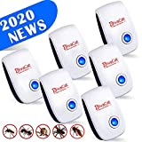 6 Pack Ultrasonic Pest Repeller Plug in, 2020 Upgraded Electronic Pest Repellent Indoor Pest Control for Insect Mosquito Rodent Mouse Cockroach Rat Bug Spider, Human Pet Safe & Quiet Device