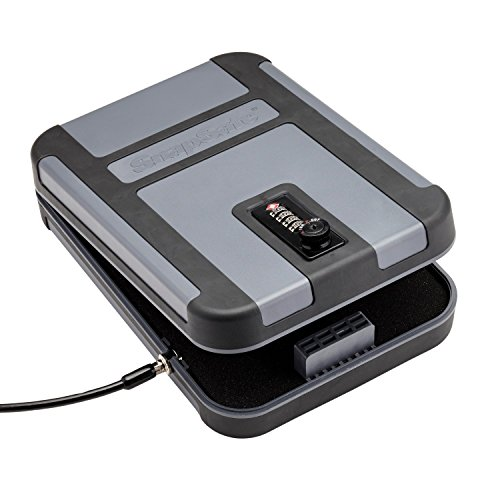 "Snapsafe Treklite Lock Box with Combination Lock, X-Large 75241, Portable Polycarbonate Handgun Safe & Case, TSA Lock Approved, Measures 10"" x 7"" x 2"""
