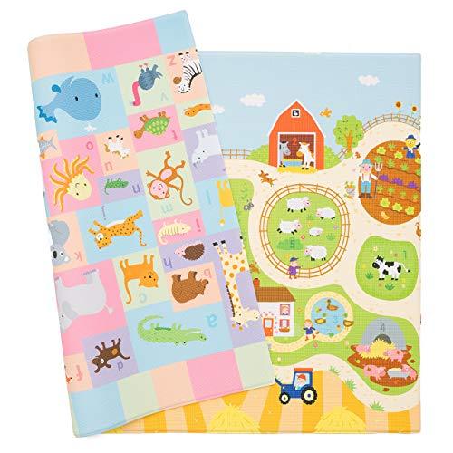 Spielmatte - BABY CARE - Busy Farm - Large - 2,1m * 1,4m * 13mm