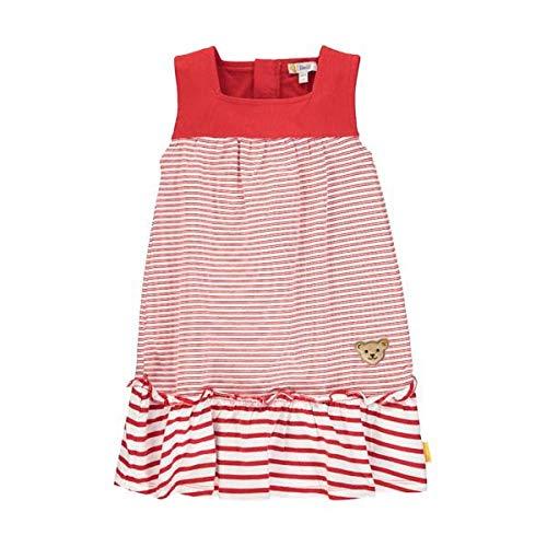 Steiff Kleid o.Arm Ringel uni Schulter Größe: 092 Farbe: rot