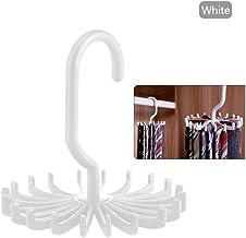 JJYZD Tie Hanger Plastic Portable Tie Rack Closets Rotating Hook Holder Belt Clothes Tie Rack Storage Home Supply Multifun...