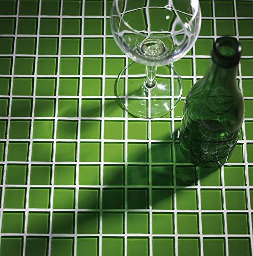 Malla de Mosaico de Cristal 30x30cm Color Verde