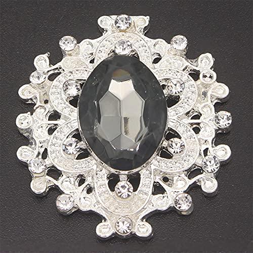 URNOFHW Patrones Planos y Cristales Joyas Coser en el Diamante de imitación con Gemas de acrílico Strass Strass Crystal Broche Aplique para artesanía Diamante