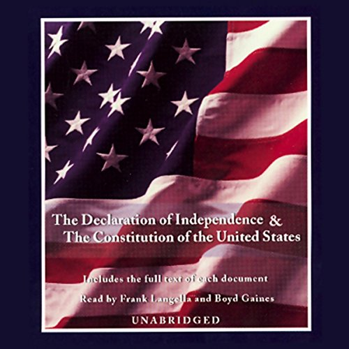 The Declaration of Independence and the Constitution of the United States audiobook cover art