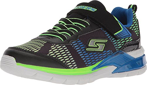 Skechers Erupters II-Lava Wave, Zapatillas Niños, Multicolor (BBLM Black & Blue Textile/Lime Trim), 33 EU