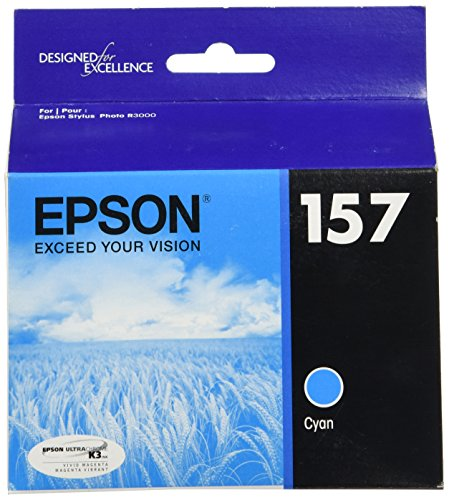 Epson UltraChrome K3 157 Inkjet Cartridge (Cyan) (T157220)
