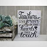 DONL9BAUER - Cartel de madera para profesores y profesores, para colgar en la pared