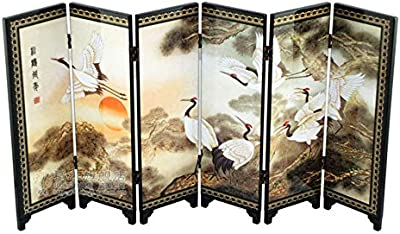 Amazon.com: FIREBUGI 6 Panel Lacquer Painting Small Folding ...