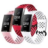 FunBand Fitbit Charge 3/Charge 4 Correa, Edición Especial Soft Silicona Deportes Recambio de Pulseras Ajustable Reemplazo...