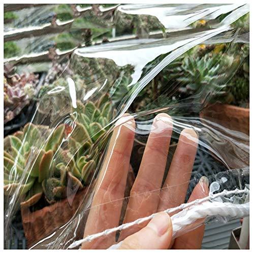 WUZMING Lona Transparente, Lona Impermeable a Prueba de Polvo con Ojal Fácil de Instalar por jardinería Planta de Flores PVC de plástico Blando (Color : Clear-0.3mm, Size : 1.8x4m)