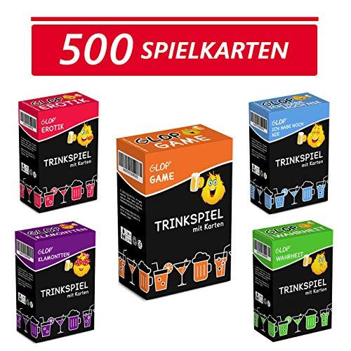 Glop 500 Spielkarten + App - Trinkspiel - Partyspiel - Kartenspiel - Spieleabend - Saufspiel - Brettspiel