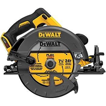 DEWALT FLEXVOLT 60V MAX Circular Saw, 7 1/4-Inch, Brushless, Tool Only (DCS575B)