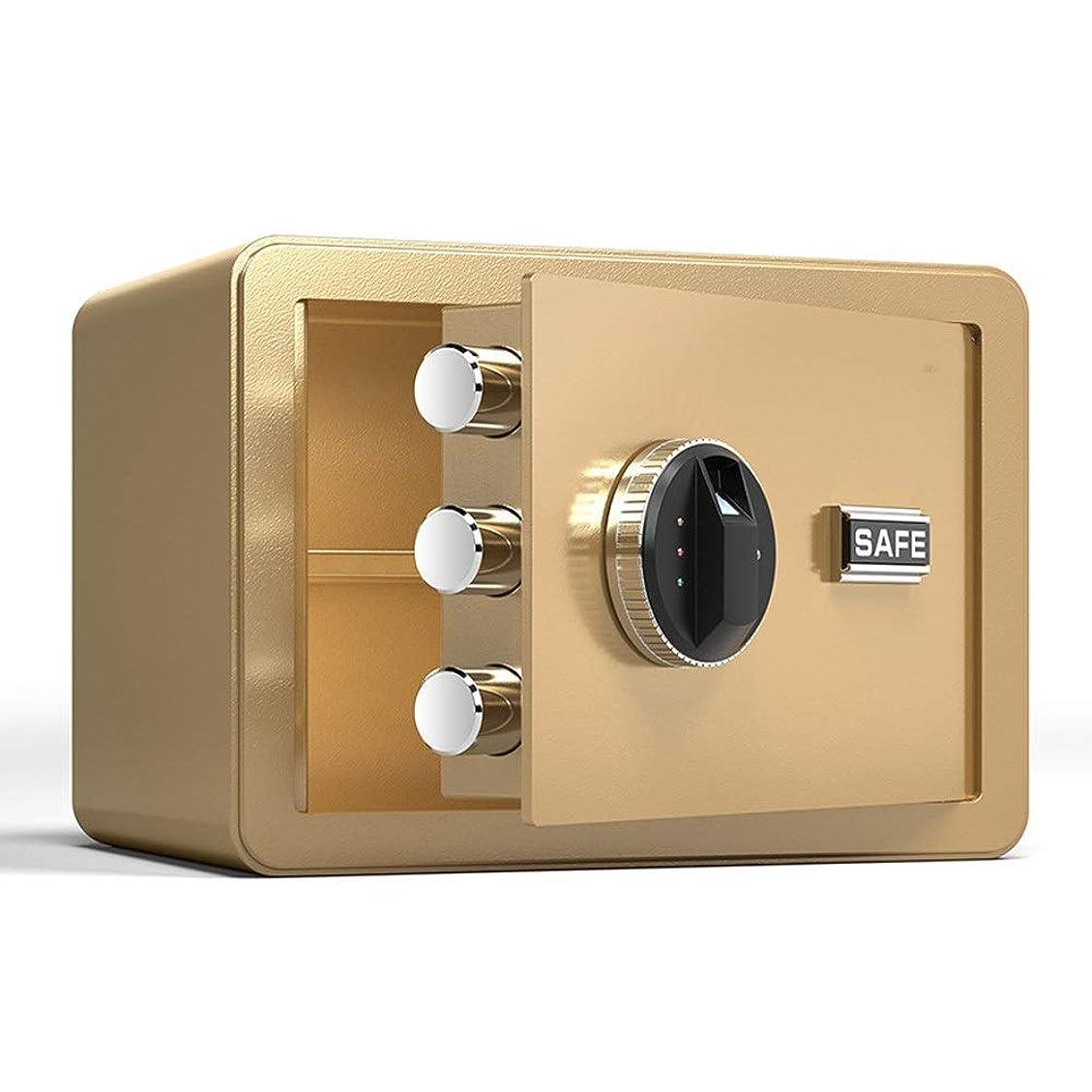 宝矢じり傑出した電子金庫 安全なロックボックスデジタル指紋セーフティボックスソリッド合金鋼建設のためのホームオフィスホテル 金庫 (色 : Gold A, Size : 35X25X25CM)