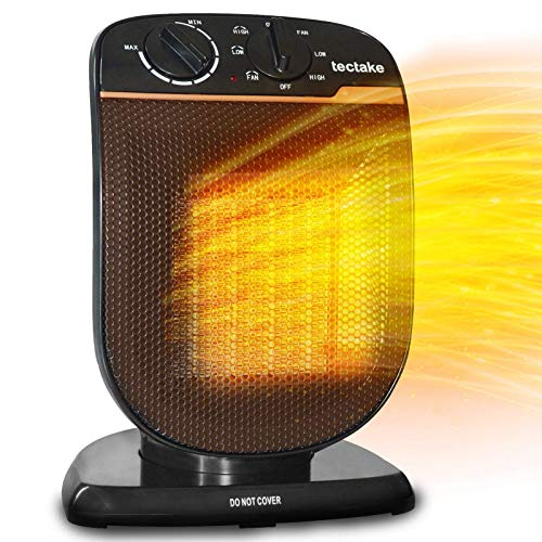 Patio Space Heater Electric Portable - Outdoor Oscillating Ceramic Fan Heater with Adjustable Thermostat, Overheat Protection, For Personal Indoor Office Desk Garage Heaters 1500W