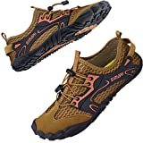 SIMARI Womens Mens Sports Water Shoes Quick Dry Barefoot for Swim Diving Surf Aqua Pool Beach Walking Yoga 323 Yellow...