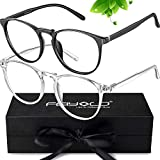 Best Glasses For Computers - FEIYOLD Blue Light Blocking Glasses Women/Men,Retro Round Anti Review