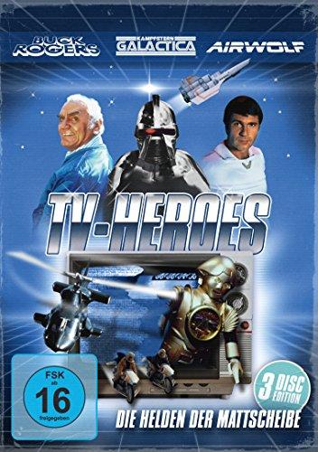 TV Heroes - Helden der Mattscheibe : Buck Rogers / Kampfstern Galactica / Airwolf [3 DVDs]