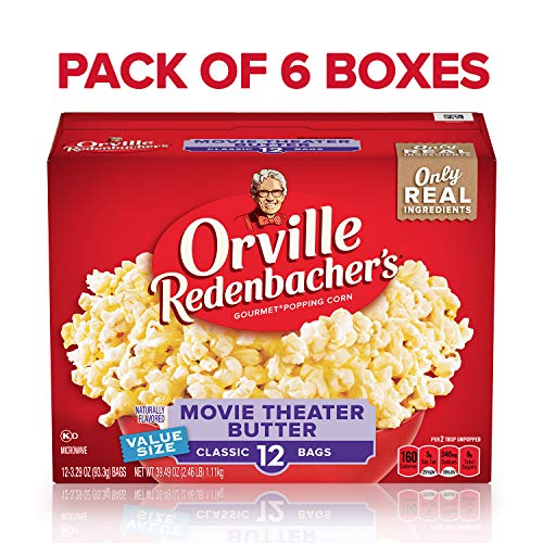 Check Out This Orville Redenbacher's Movie Theater Butter Microwave Popcorn, 3.29 Ounce Classic Bag,...