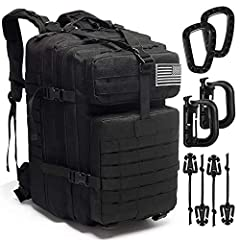 ★PREMIUM MATERIAL: Novemkada Tactical backpack is made of sturdy 1000D fabric nylon material, lightweight and with water resistant coating inside. It is long lasting and hard to be dirty. ★MOLLE SYSTEM :Military molle backpack has molle system.Molle ...