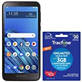 Tracfone Motorola Moto e6 4G LTE Prepaid Smartphone (Locked) with $30 Airtime Bundle