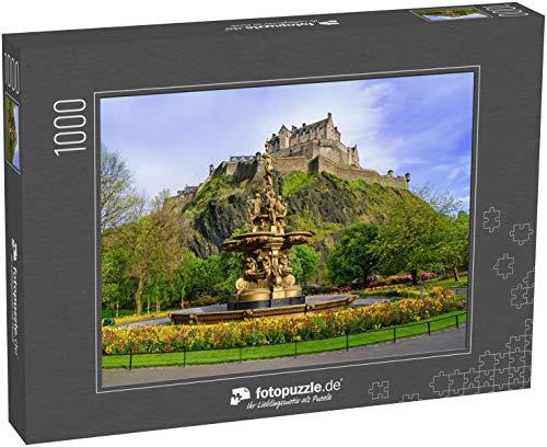 fotopuzzle.de Puzzle 1000 Teile Ross Brunnen Wahrzeichen in Pinces Street Gardens. Edinburgh, Schottland, Großbritannien (1000, 200 oder 2000 Teile)