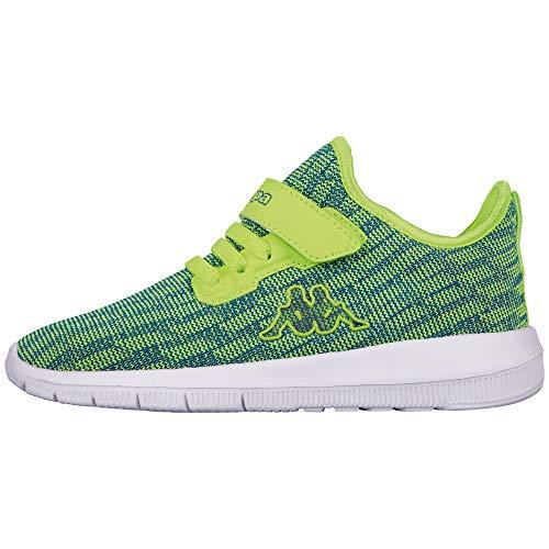 Kappa Gizeh Sneaker, Grün (3360 Lime/Blue), 30 EU