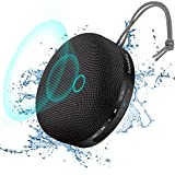 Travel Case Included- 8W Bass Soundnova IPX5 Waterproof 3D Bluetooth Speaker, 15H Music, Premium Small Portable Wireless Shower Speaker for iPhone Phone iPad Tablet Pool Beach Hiking Camping, Black
