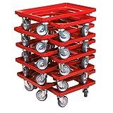 10 Stück Transportroller für Kisten 60 x 40 cm mit