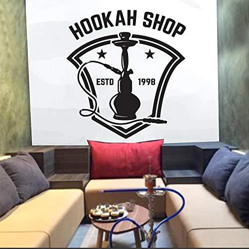 jiuyaomai Shisha Wandtattoo Arabische Kultur Wandtattoo Abnehmbarer Vinyl Aufkleber Cafe Hotel Home Decor Schlafzimmer Wohnzimmer C43x40cm