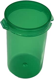 MT Products 6 Dram Hinged Lid Prescription Bottle (25 Pieces) (Green)