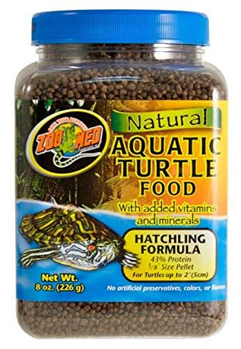 Zoo Med Natural Aquatic Turtle Food, Hatchling Formula, 8-Ounce