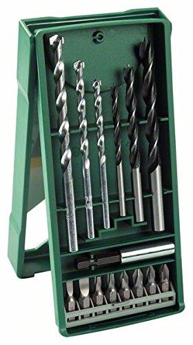 Bosch Mini X-line - Set de 15 unidades para taladrar y atornillar