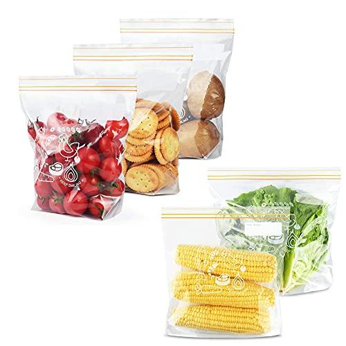 40 Piezas Bolsas Selladas Almacenamiento Alimentos, Bolsas Congelacion, Bolsas de Sándwich Congelador, Reutilizables Bolsas de Alimentos de Plástico, para Frutas, Verdura, Viaje, 2 Tamaño