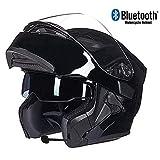 Ands Bluetooth Intégré Modulaire Flip Full Face Casque De Moto Double Parasol...