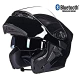 Ands Bluetooth Intégré Modulaire Flip Full Face Casque De Moto Double Parasol Anti-Brouillard MP3...
