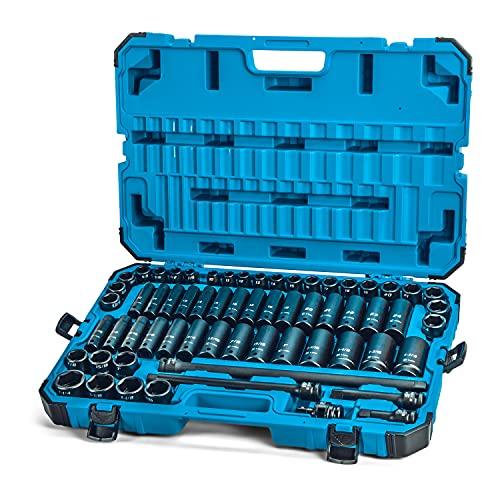 Capri Tools 5-5000 CP55000 Square Drive Sockets, Master Set w. Case /...