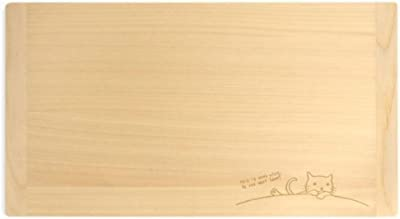 mere pere(メルペール) ネコ柄 国産ヒノキまな板 大(39×22cm) 770-420