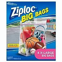 ( 6)パッケージZiploc # 656444パックExtra Large Extra Heavy Duty Bigバッグ/ストレージバッグ