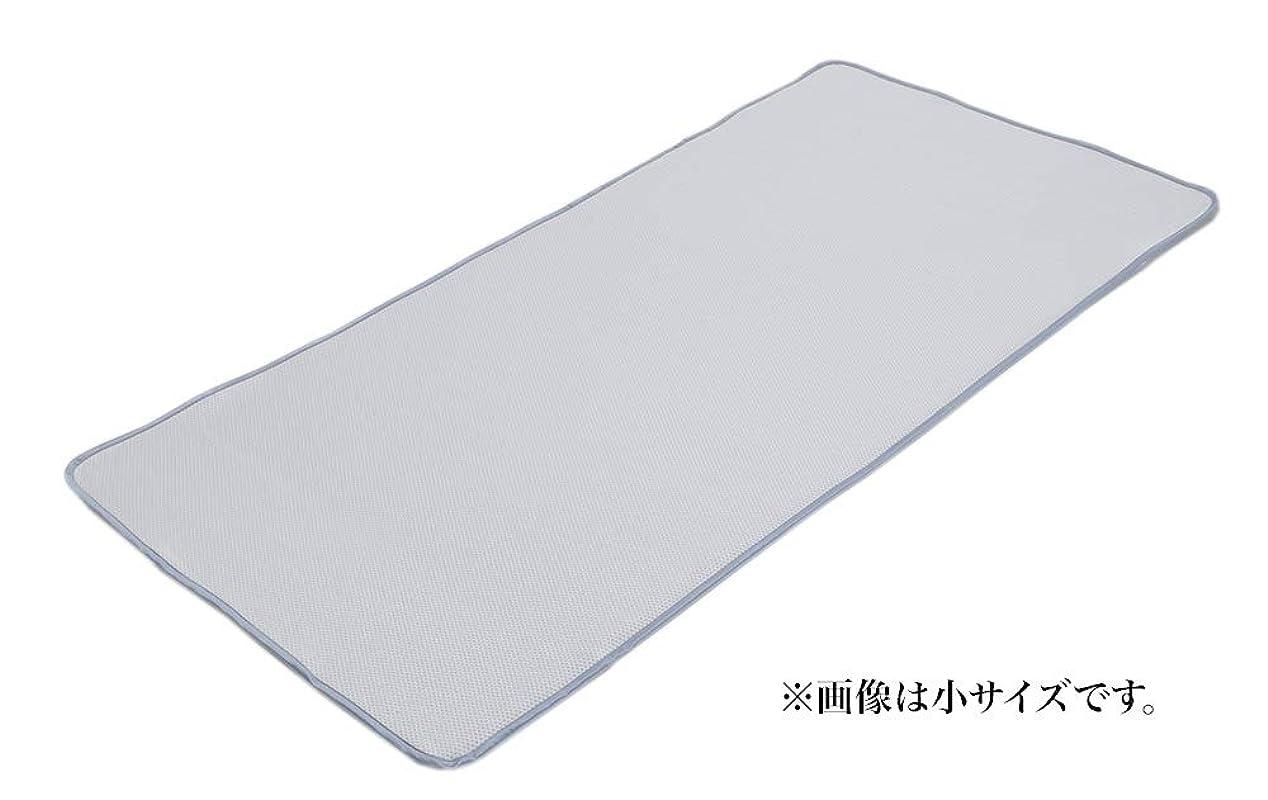 第二にストリップペインフランスベッド ひんやりグッズ 小 97×195cm ひんやり消臭ベッドパッド 日本製 クールデオドパッドN 35975101