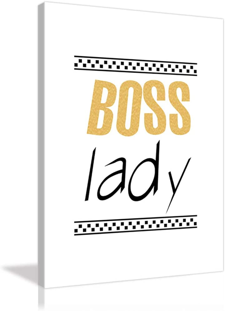 AMEMNY Boss Don't miss the campaign Lady Canvas Wall Artwo Declaration Art Louisville-Jefferson County Mall Inspirational